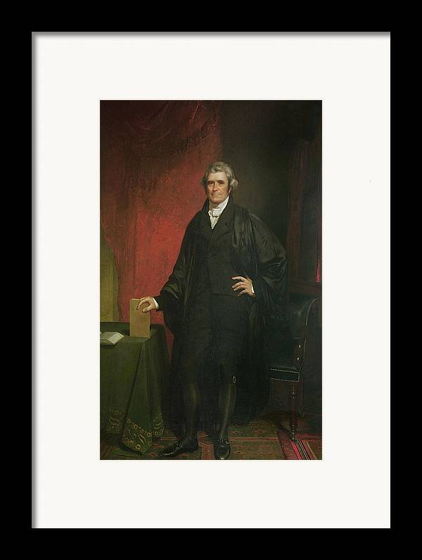 Portrait Framed Print featuring the painting Chief Justice Marshall by Chester Harding