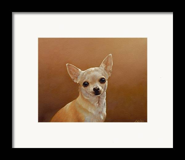 Chihuahua Framed Print featuring the painting Chihuahua I by John Silver