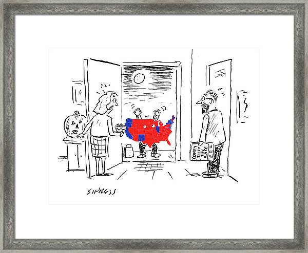 picture regarding Electoral Map Printable identify Baby Dressed As 2016 Electoral Higher education Map Framed Print
