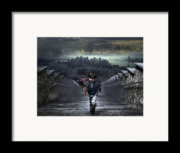 Boy Framed Print featuring the photograph Child Of New York by Joachim G Pinkawa