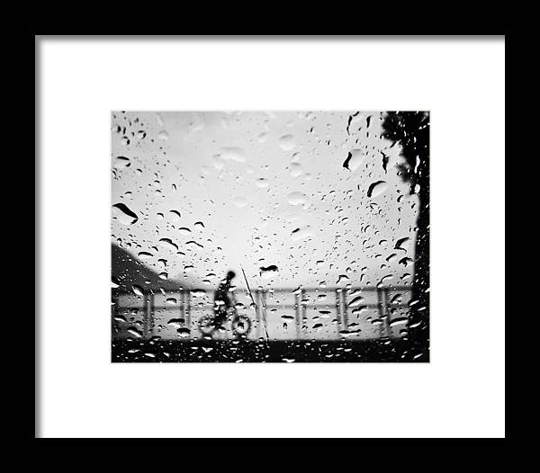 Rain Framed Print featuring the photograph Children In Rain by The Artist Project