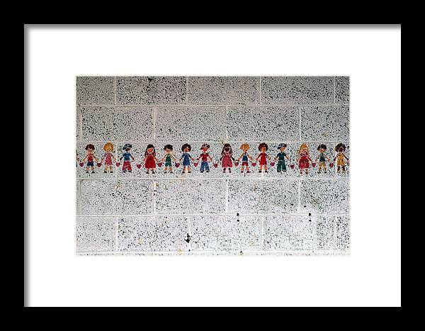 Colorful Framed Print featuring the photograph Children Of The World by Pamela Shane