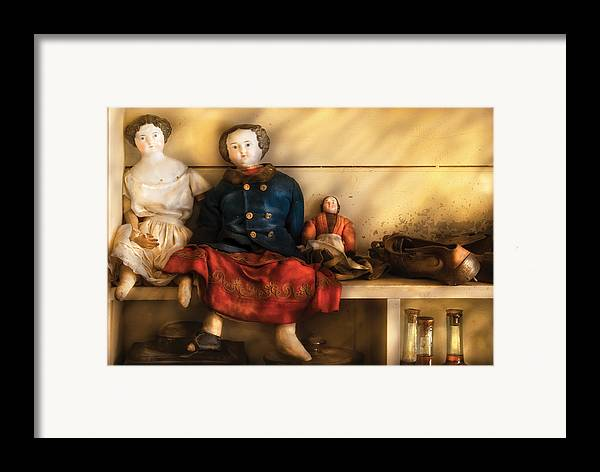 Savad Framed Print featuring the photograph Children - Toys - Assorted Dolls by Mike Savad
