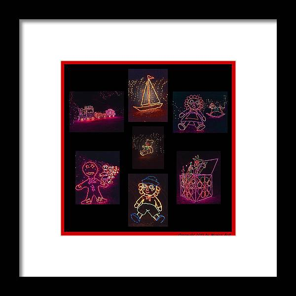 Digital Art Framed Print featuring the photograph Children's Toys In Lights Poster 2 by Marian Bell