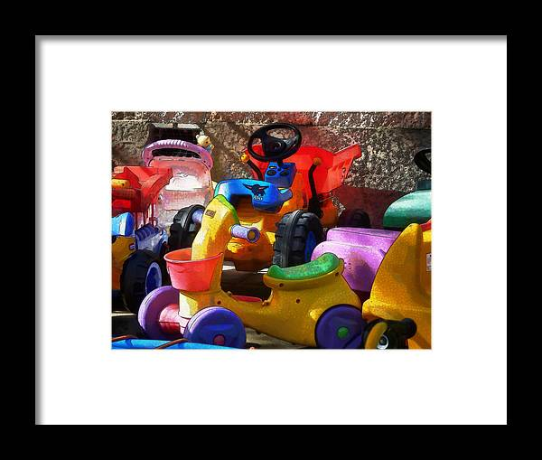 Scooter Framed Print featuring the photograph Child's Play by Steve Taylor