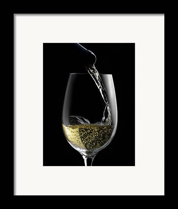 White Framed Print featuring the photograph Chilled White by Dennis James