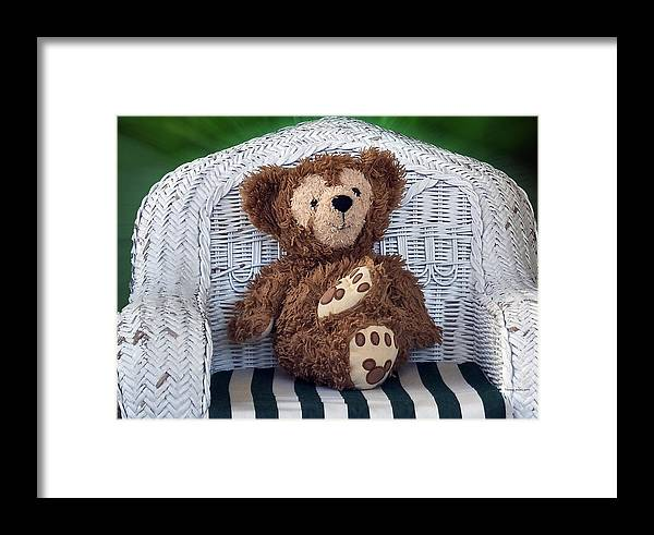 Fantasy Framed Print featuring the photograph Chilling Bear by Thomas Woolworth