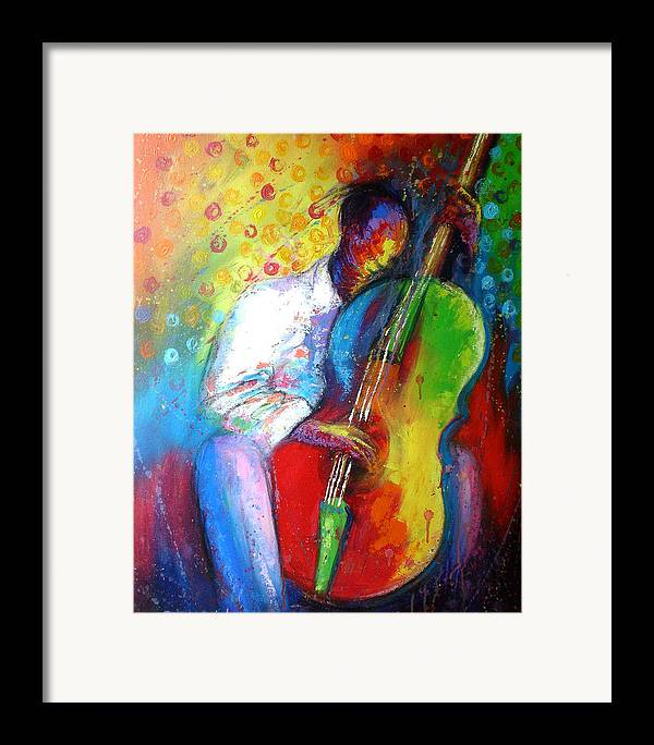 Tunde Framed Print featuring the painting Chilln by Tunde Afolayan-Famous