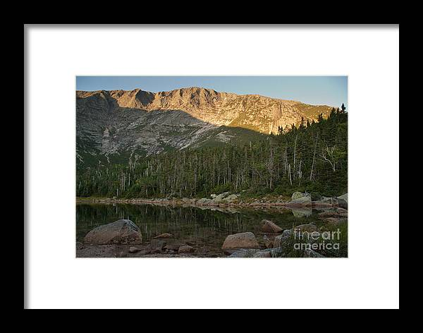 Chimney Pond Framed Print featuring the photograph Chimney Pond by Alana Ranney