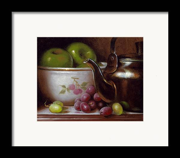 China Framed Print featuring the painting China Bowl And Teapot by Timothy Jones