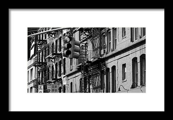 Manhattan Framed Print featuring the photograph China Town Fire Escape by Newyorkcitypics Bring your memories home