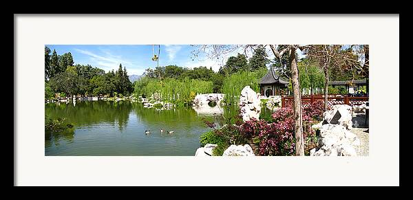 Digital Framed Print featuring the photograph Chinese Gardens by Bedros Awak