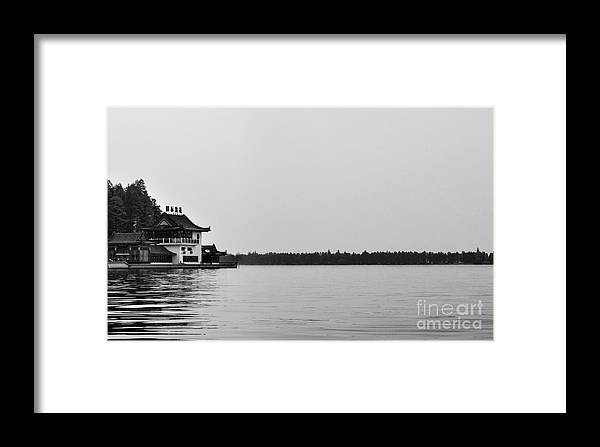 China Framed Print featuring the photograph Chinese Lake House by Matt Malloy