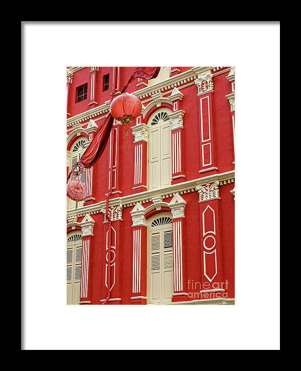Singapore Framed Print featuring the photograph Chinese Lanterns Singapore II by Louise Fahy