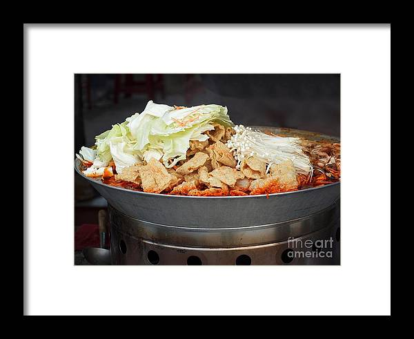 Pot Framed Print featuring the photograph Chinese Spicy Hot Pot Dish by Yali Shi