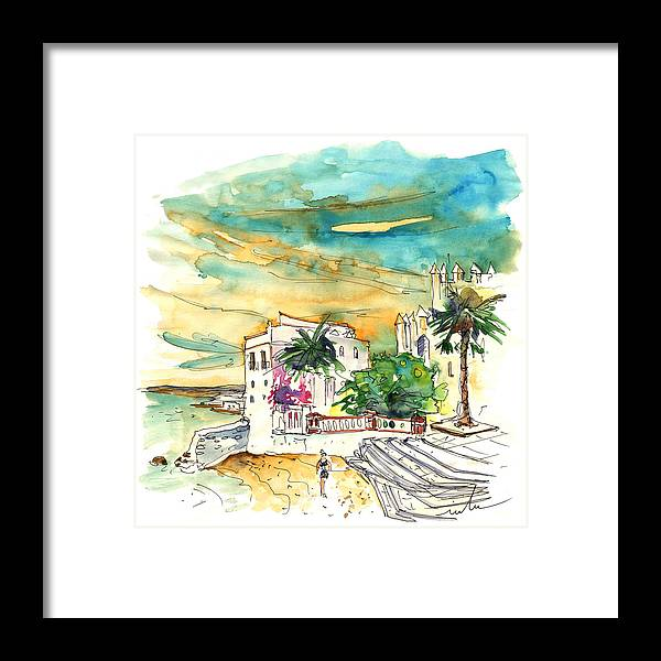 Travel Framed Print featuring the painting Chipiona Spain 04 by Miki De Goodaboom