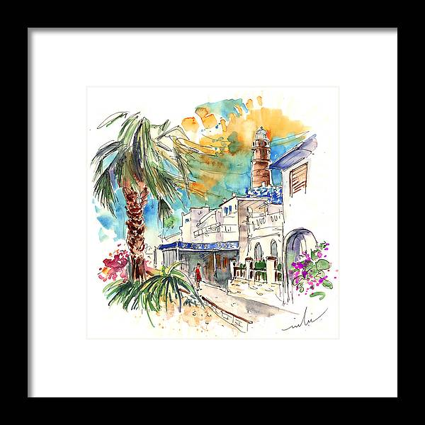 Travel Framed Print featuring the painting Chipiona Spain 05 by Miki De Goodaboom