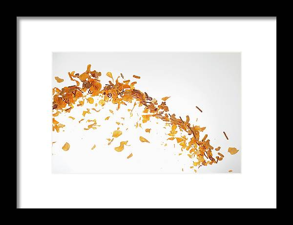 Curve Framed Print featuring the photograph Chips, Pretzels And Savory Snacks by Dual Dual