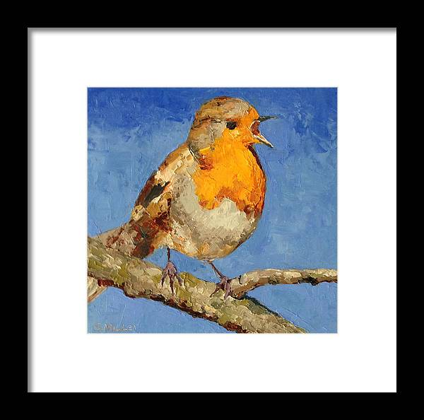 Bird Framed Print featuring the painting Chirp by Sylvia Miller