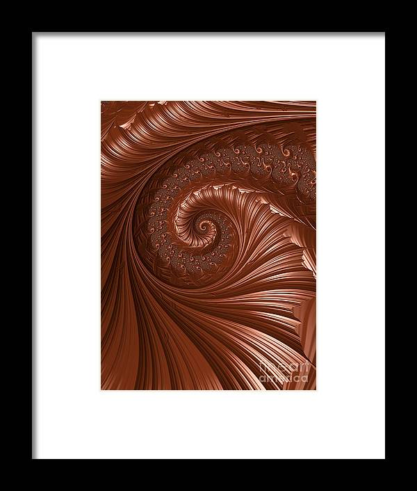 Background Framed Print featuring the digital art Chocolate by Heidi Smith