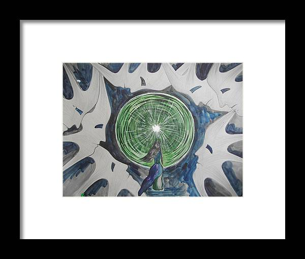 Light Framed Print featuring the painting Choice by Nazeli Arshakyan