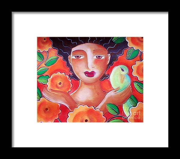 Tropical Framed Print featuring the mixed media Choose for Reasons by Elaine Jackson