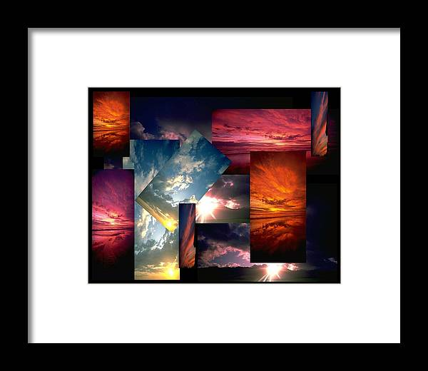 Sun Framed Print featuring the digital art Choose Your Own Sunrise by Darryl Kravitz