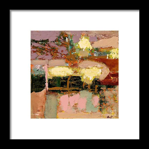 Landscape Framed Print featuring the painting Chopped Liver by Allan P Friedlander