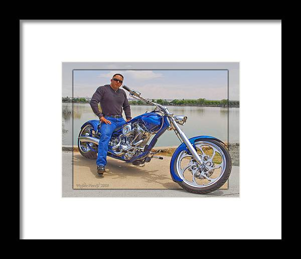 Chopper Motorcycle Framed Print featuring the photograph Chopper Motorcycle by Walter Herrit