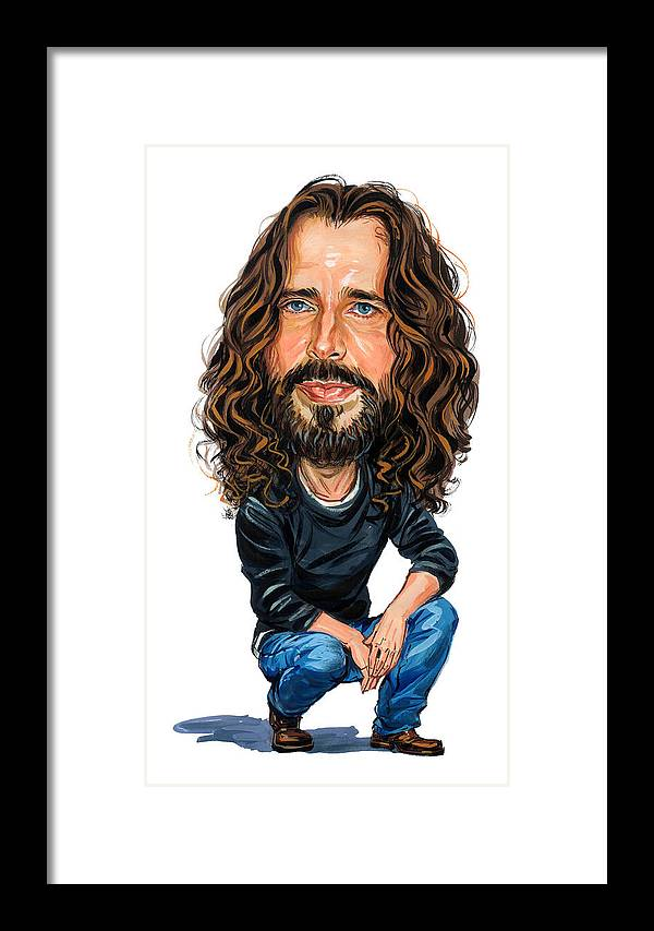 Chris Cornell Framed Print featuring the painting Chris Cornell by Art