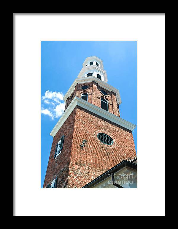 Christianity Framed Print featuring the photograph Christ Church Steeple by Jim Pruitt