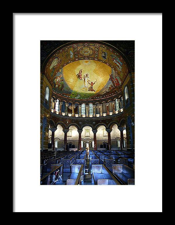 St. Louis Framed Print featuring the photograph Christ Is Risen II - St Louis Basilica by Thia Stover