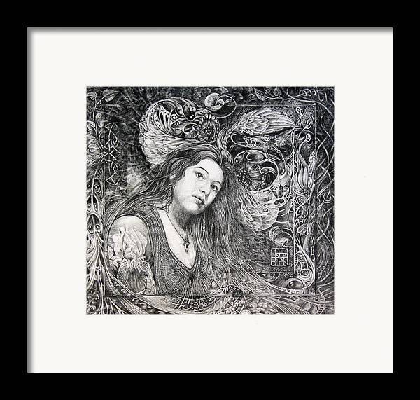 Portrait Framed Print featuring the drawing Christan Portrait by Otto Rapp