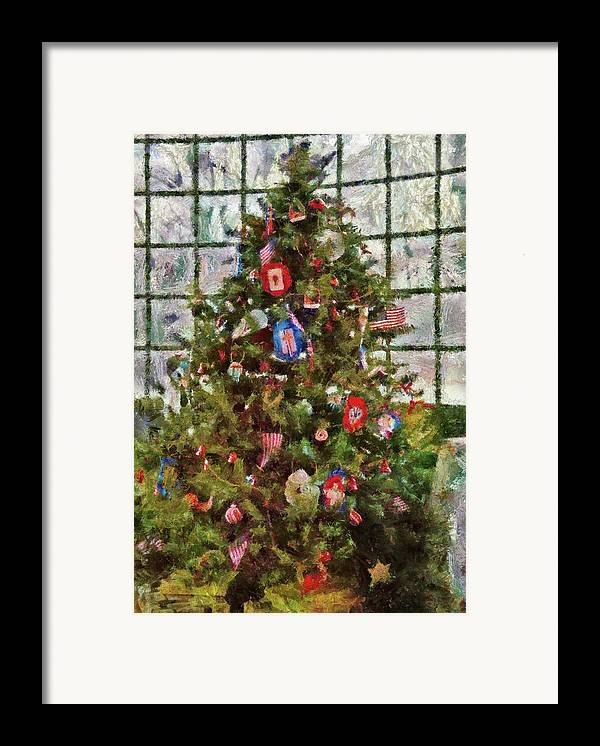 Christmas Framed Print featuring the photograph Christmas - An American Christmas by Mike Savad