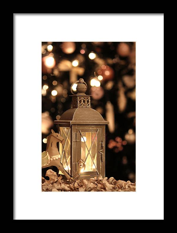 Christmas Framed Print featuring the photograph Christmas And New Year Decoration by Bronislava Vrbanova