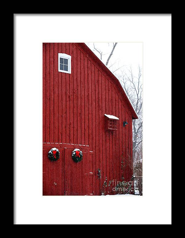 Christmas Framed Print featuring the photograph Christmas Barn 4 by Linda Shafer