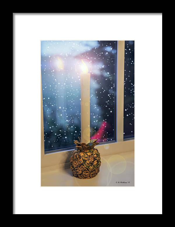 2d Framed Print featuring the photograph Christmas Candle by Brian Wallace