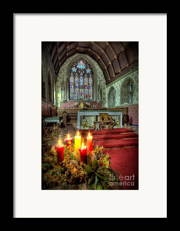 Altar Framed Print featuring the photograph Christmas Candles by Adrian Evans