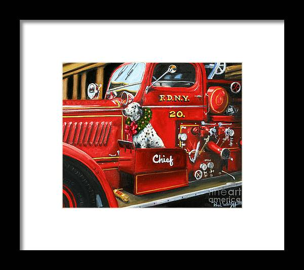 Christmas Framed Print featuring the painting Christmas Chief by Paul Walsh