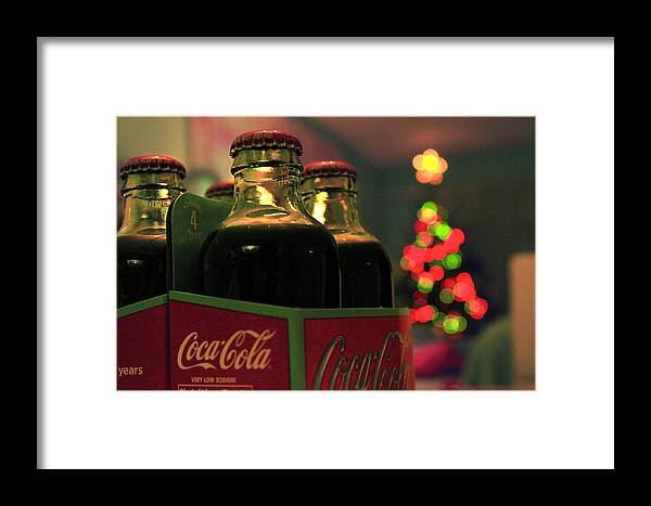 Christmas Framed Print featuring the photograph Christmas Coke by Sarabeth Kett