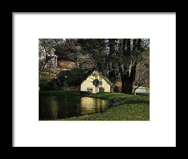 American Framed Print featuring the photograph Christmas Cottage by Gordon Beck