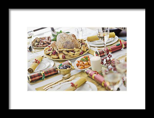 Holiday Framed Print featuring the photograph Christmas dinner by Sam Edwards