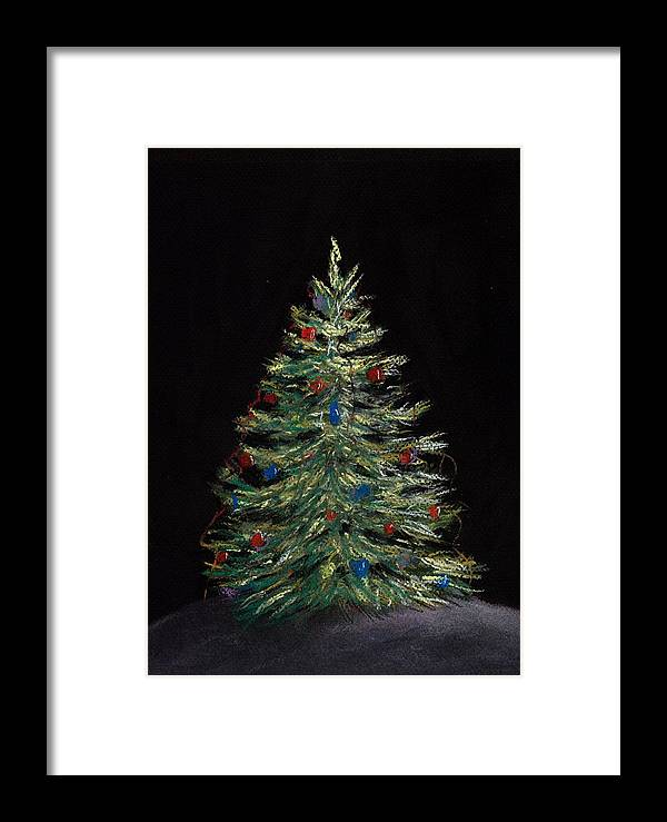 Single Framed Print featuring the painting Christmas Eve by Anastasiya Malakhova
