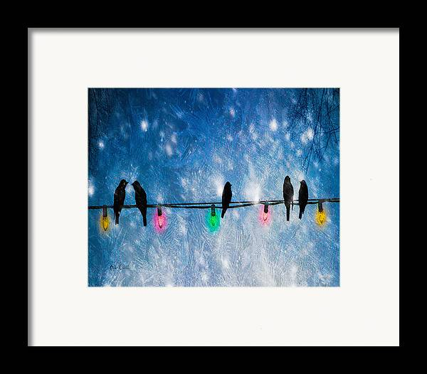 Christmas Lights Framed Print featuring the photograph Christmas Lights by Bob Orsillo