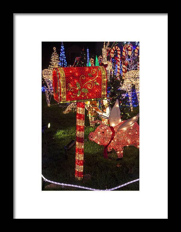 Christmas Mailbox.Christmas Mailbox Framed Print