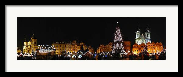Old Town Square Photographs Framed Print featuring the photograph Christmas Market by Gary Lobdell