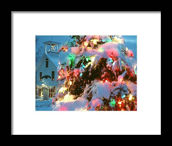 Christmas Tree Framed Print featuring the painting Christmas New Year Santa Claus by Hao Chen