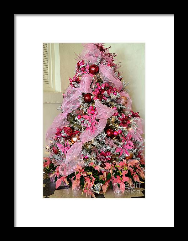 Christmas Framed Print featuring the photograph Christmas Pink by Mary Deal