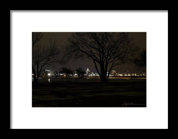 Buns Photo Framed Print featuring the photograph Christmas Skyline by Jim Bunstock