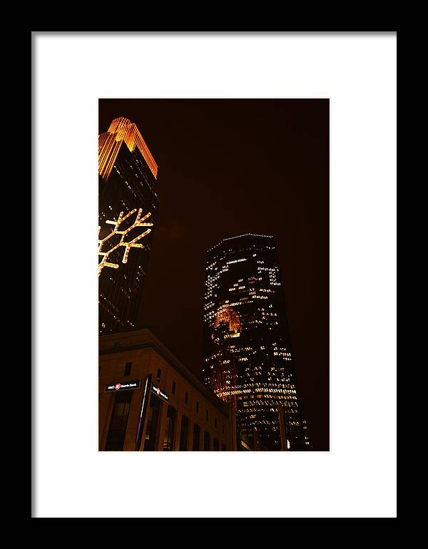 Christmas Framed Print featuring the photograph Christmas Time In The City by Rashelle Brown